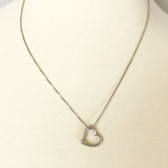 unknown Jewelry - 925 Sterling Silver Petite Heart Pendant Necklace
